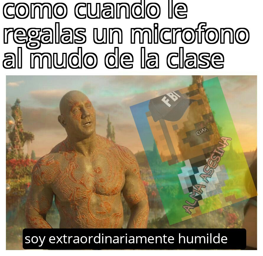 drax usa old spiece, old spiece te da humildad, se como drax el destructor - meme