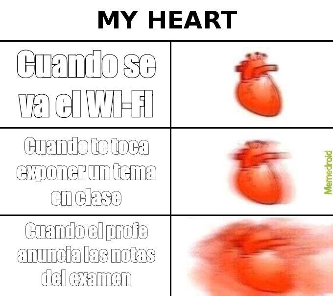 Pobre corazón juvenil. - meme