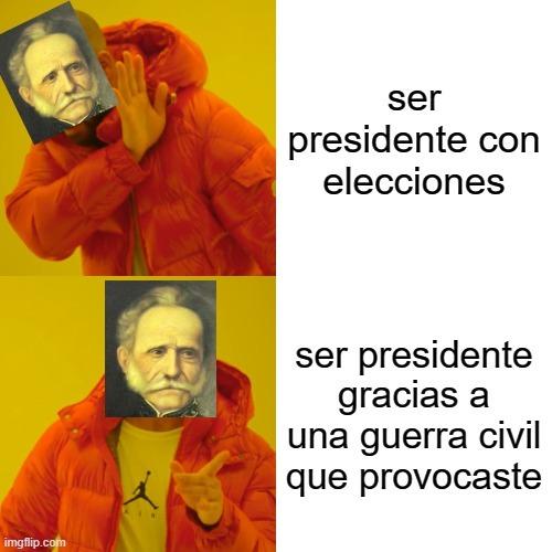 mi primer meme contexto: el chino se llama tomas cipriano de mosquera colombiano provoco una guerra civil en 1860 asiéndose presidente y cambiando la constitucion