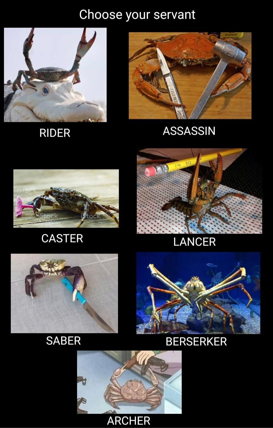 Les crabe héroïque - meme