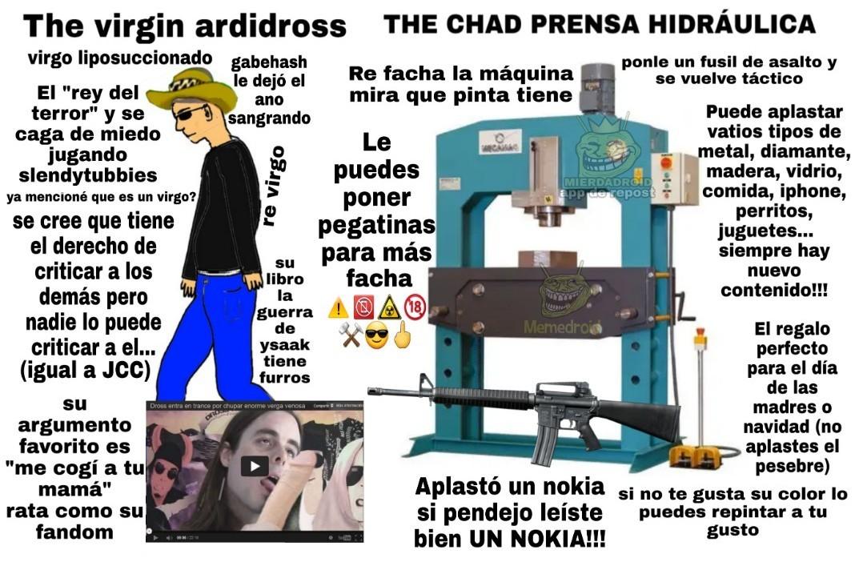 Los chad canales de prensa hidráulica - meme