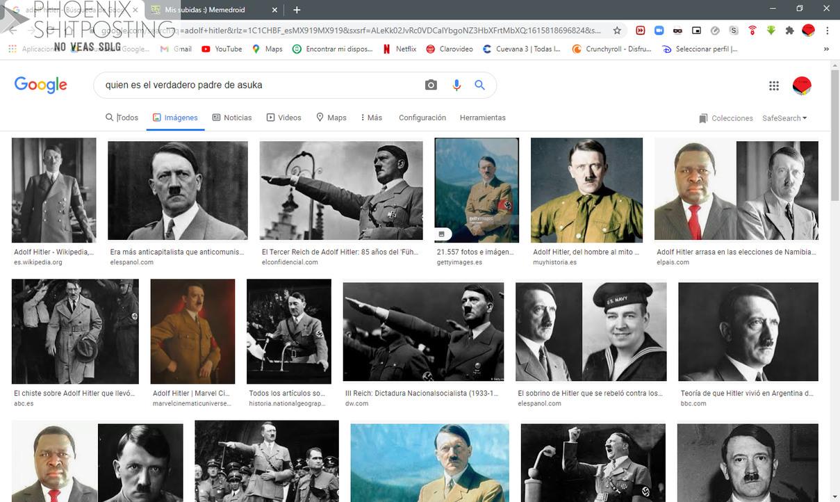 Chale los Jueves me la jalo con Asuka Cuanto odio a Hitler - meme