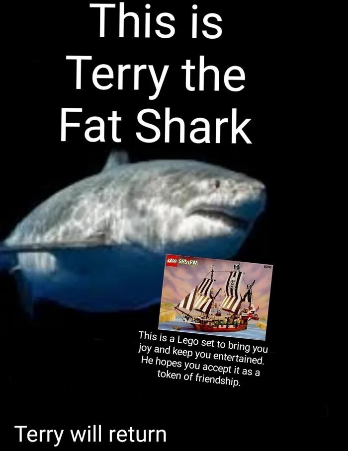 I know he is probably late, he was stopped by mods last night. Both terry and I hope you accept our apology - meme