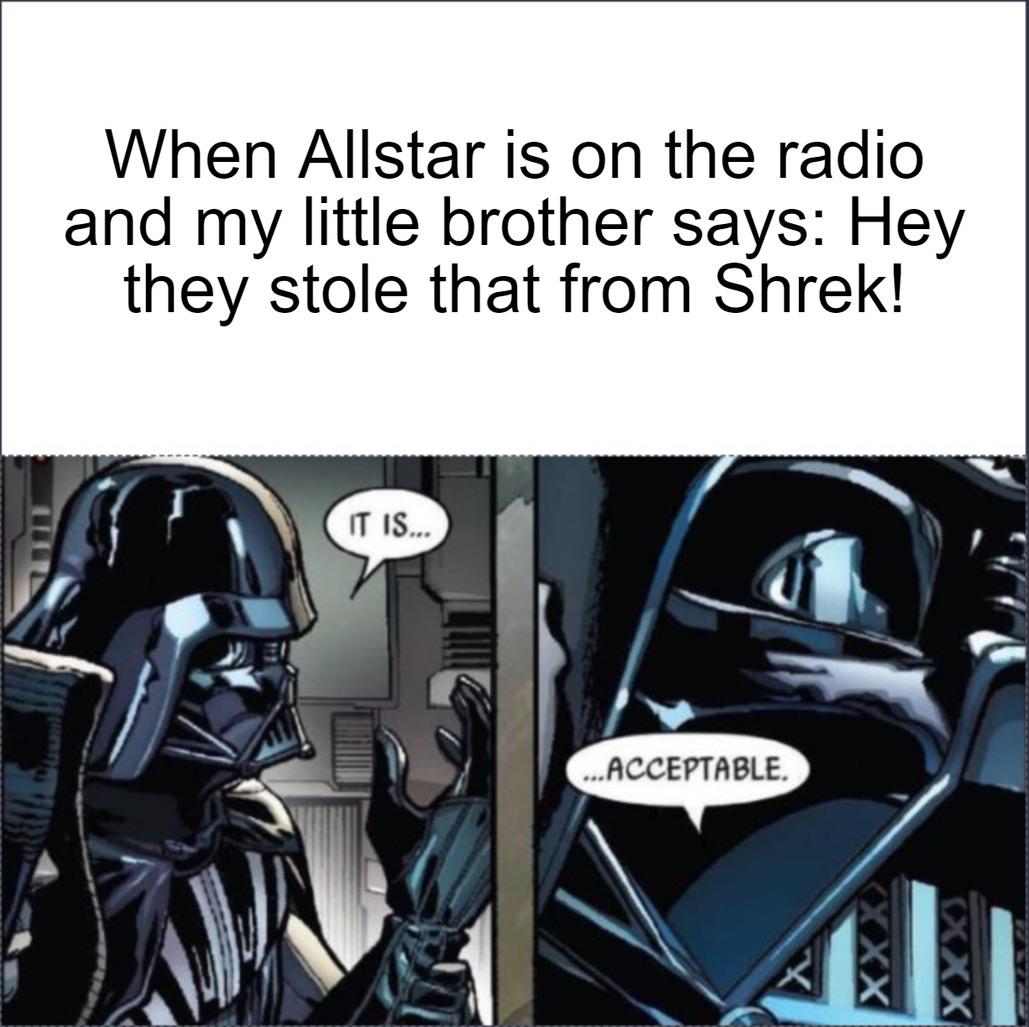 it is...now acceptable - meme