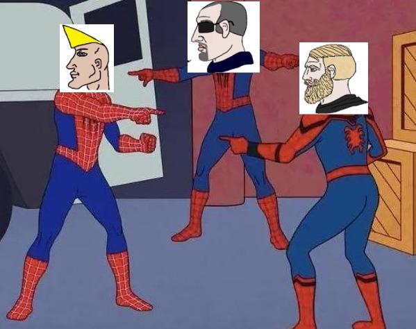 chad,boomer y nordic - meme