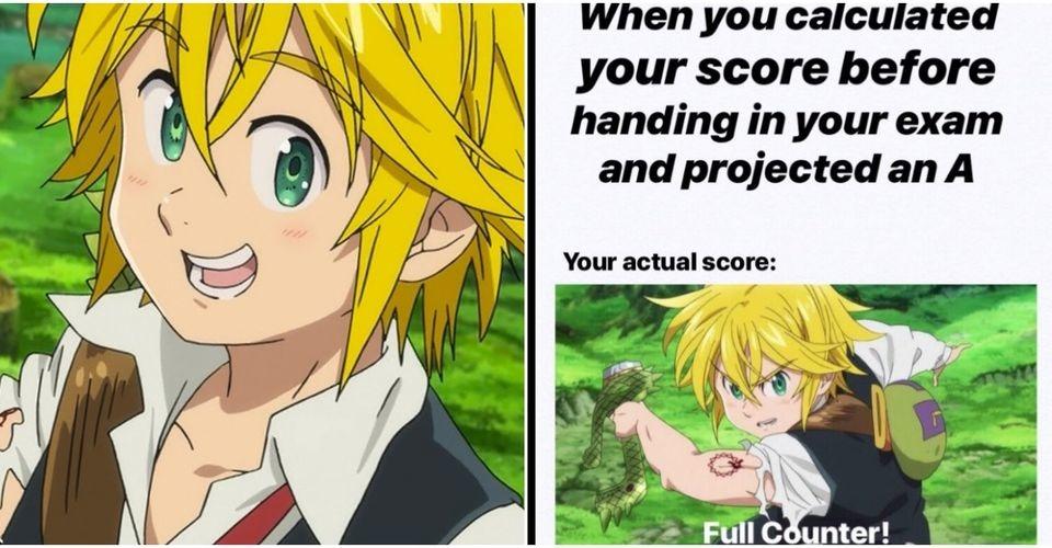 meliodas does a test - meme