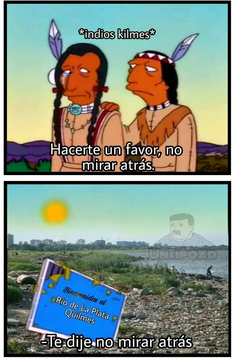 Un olor a culo en el Río de la Plata - meme