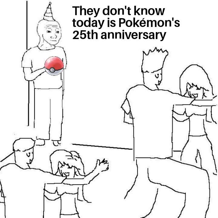 Happy 25th birthday, Pokémon! - meme