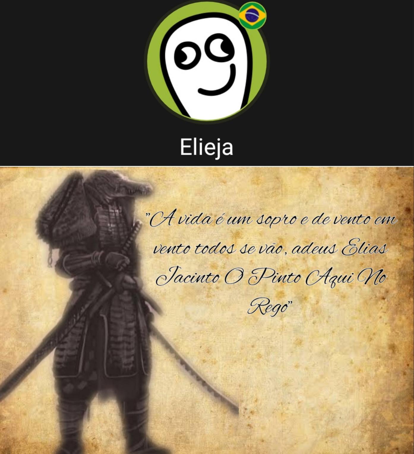 Elias Jacinto O Pinto Aqui No Rego - meme