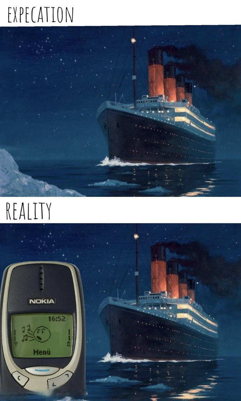 Les autorités : le Titanic a coulé à cause d'un grand iceberg… - meme