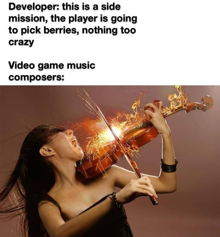 berry picking music - meme