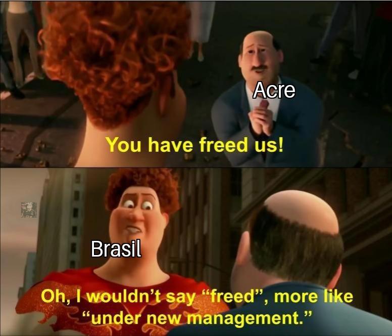 """Bom dia,"""" você nos libertou/eu diria sobre nova administração"""" - meme"""