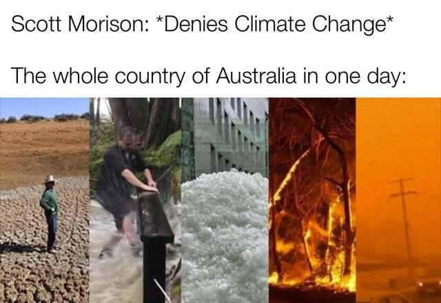 Climate change in Australia - meme