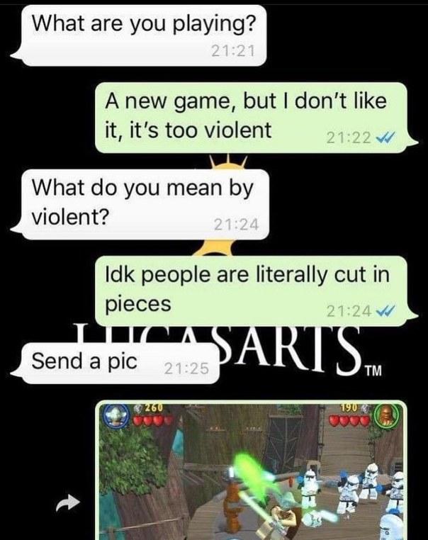 Les jeux vidéo ça rend vraiment violent dit donc ! - Karène 45ans - meme