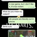Les jeux vidéo ça rend vraiment violent dit donc ! - Karène 45ans
