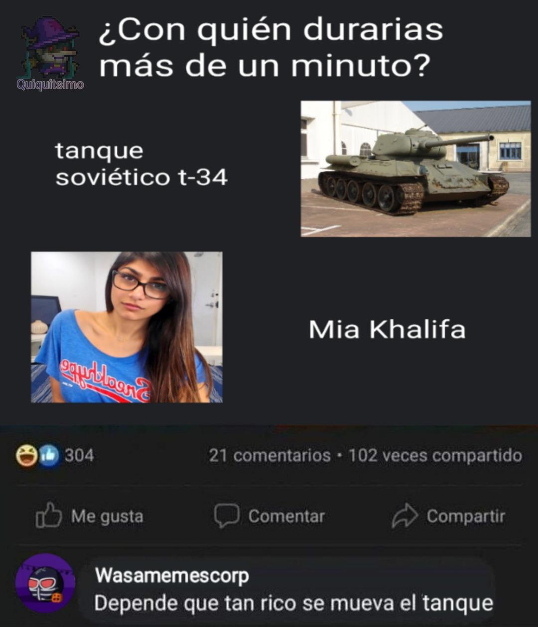 Nooo wasamescorp deja el tanque en paz - meme