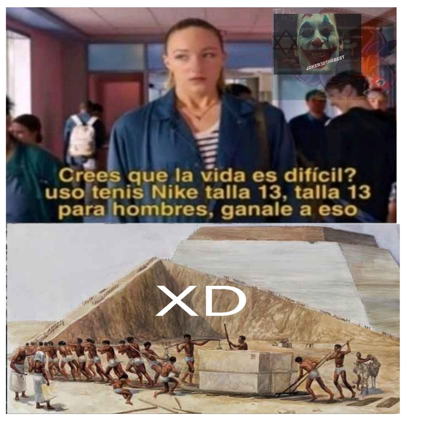 Quedaron genial las pirámides - meme