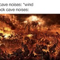 I hear cave noises that sound like gears when I play Bedrock