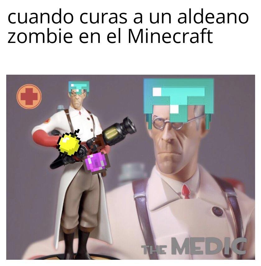 El que ponga en los comentarios como curar a un aldeano zombie se gana absolutamente nada :D - meme