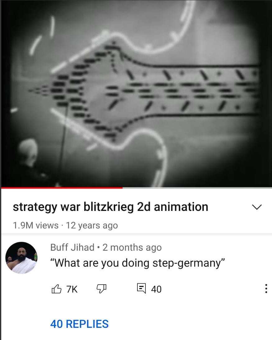 I'm invading from behind step-Poland - meme