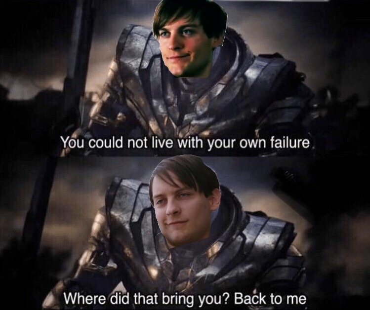Tobey Maguire is the best spiderman ever - meme