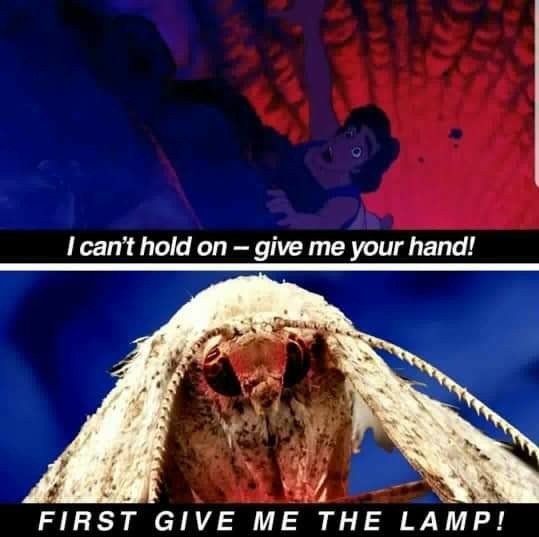 Give me the lamp - meme