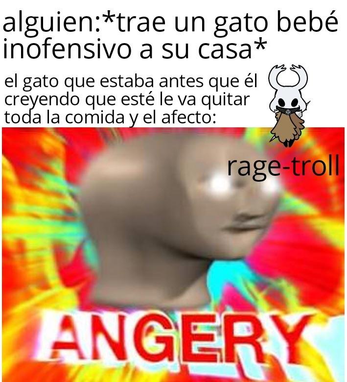 *noises of angry cat intensefes* - meme