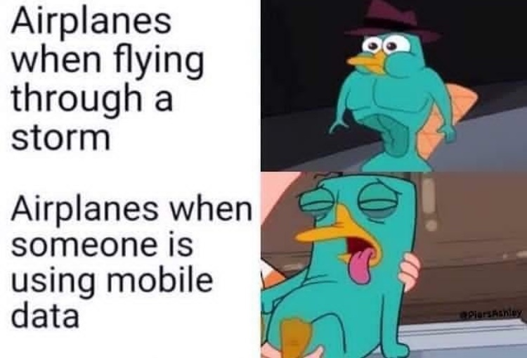 TURN YOUR PHONE OFF WHILE WE LAND? - meme