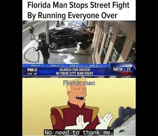Florida man again - meme