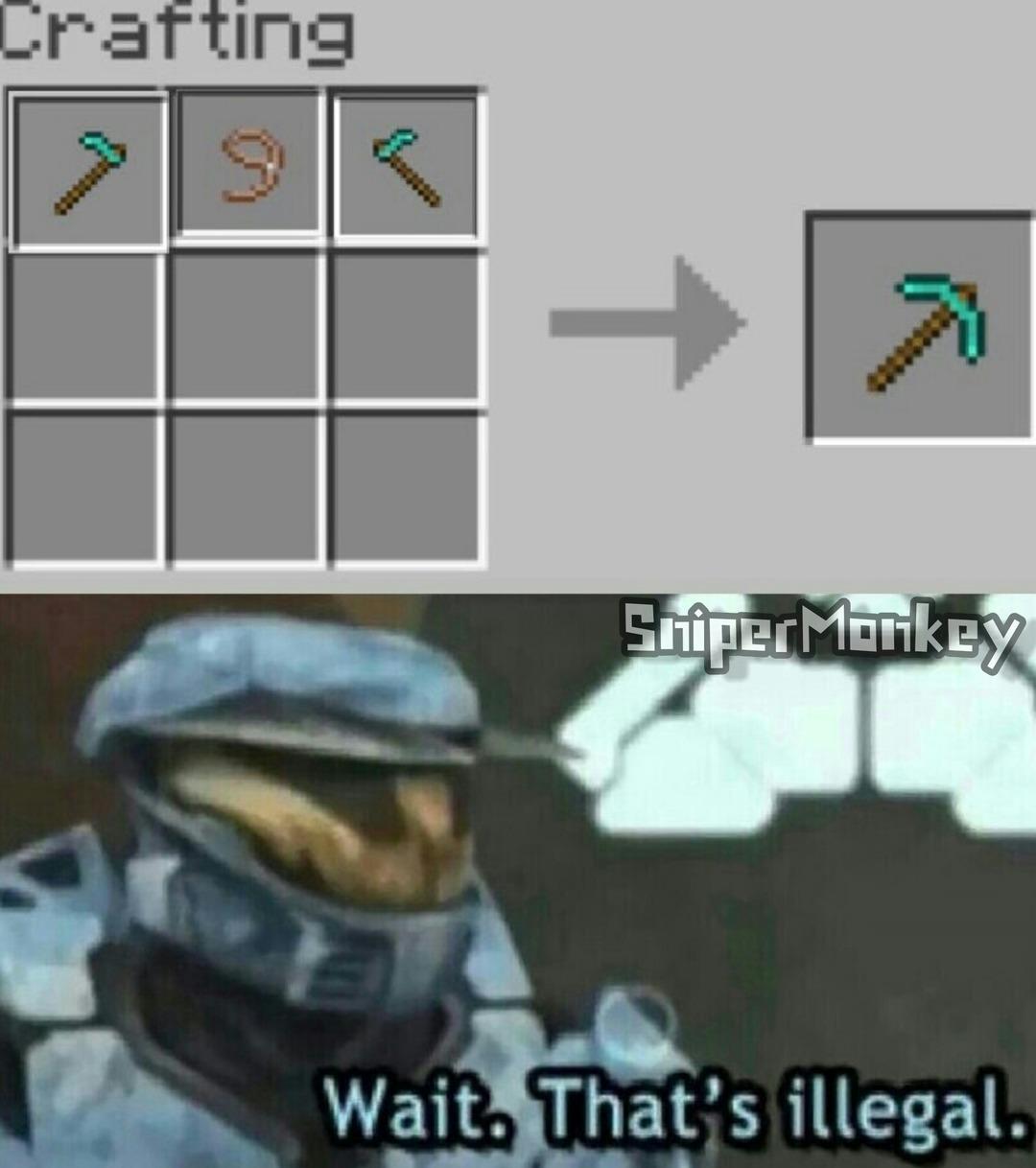 Espera, eso es ilegal - meme