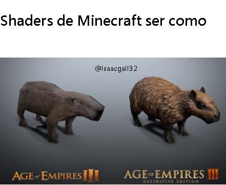 Shaders de Minecraft xd - meme