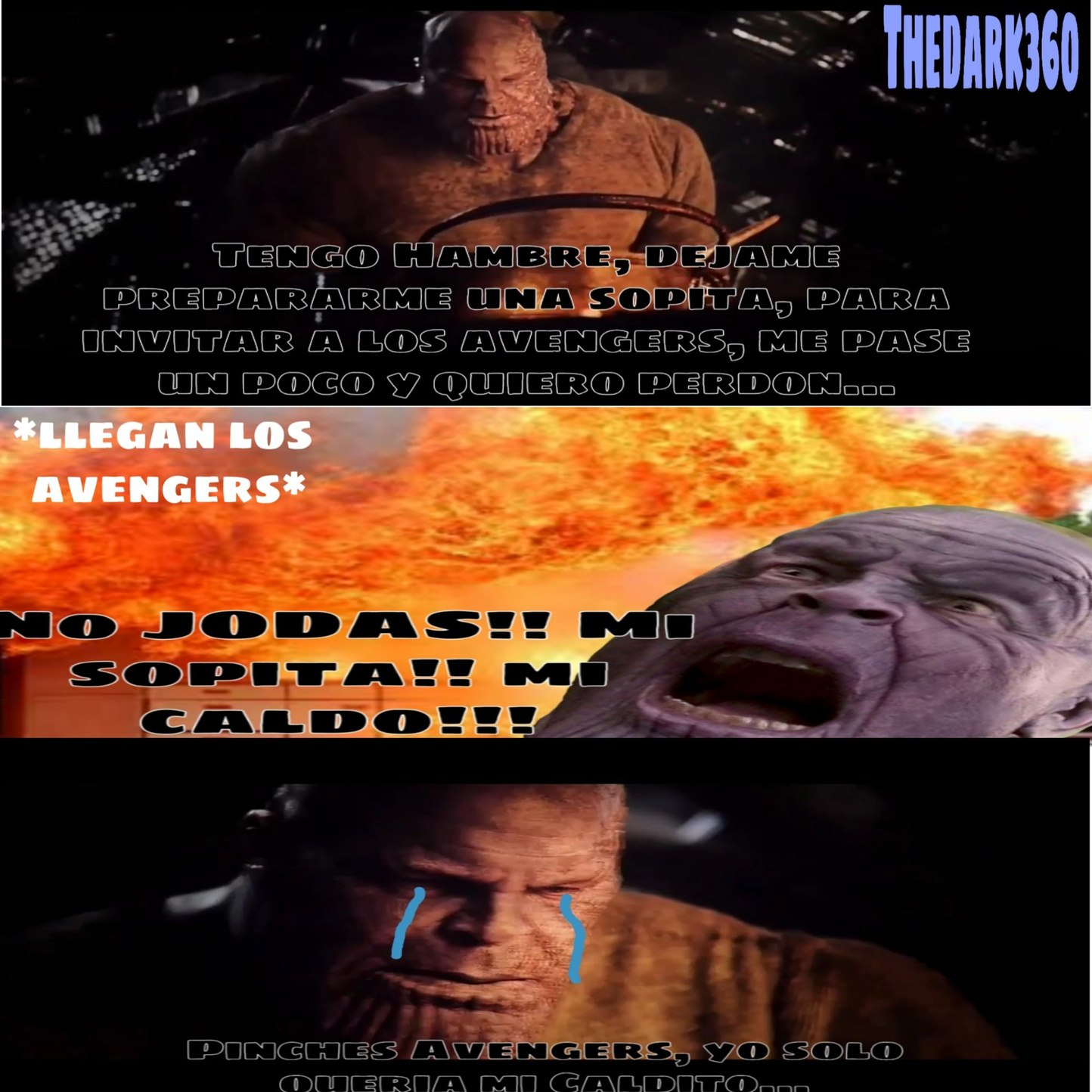 Pobre Thanos - meme