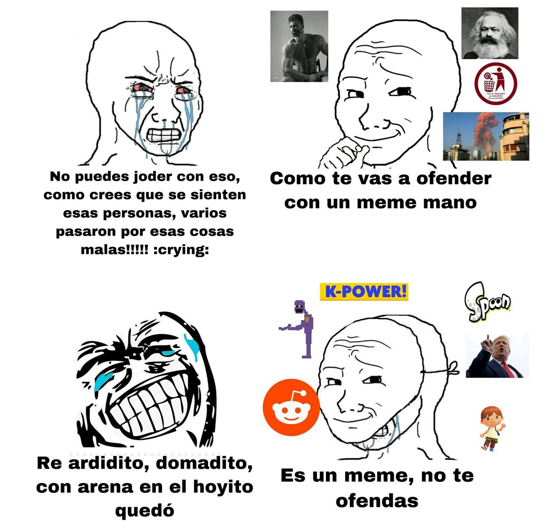 Odiar algo sin argumentos = 'L_' - meme