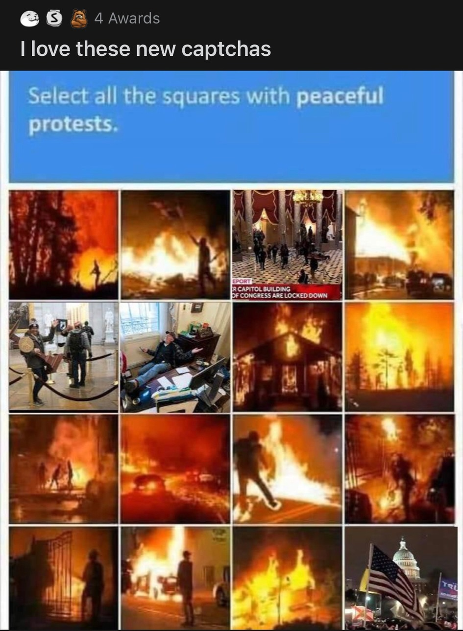 fiery but MOSTLY peaceful - meme