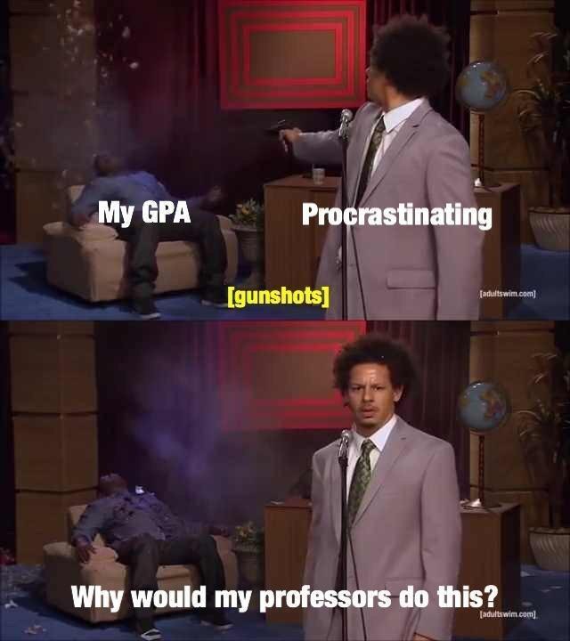 i hate school :{ - meme