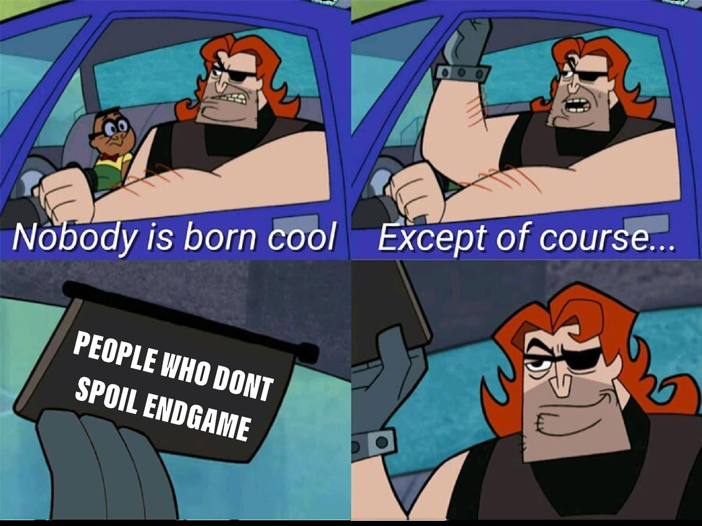 People who don't spoil endgame=cool - meme