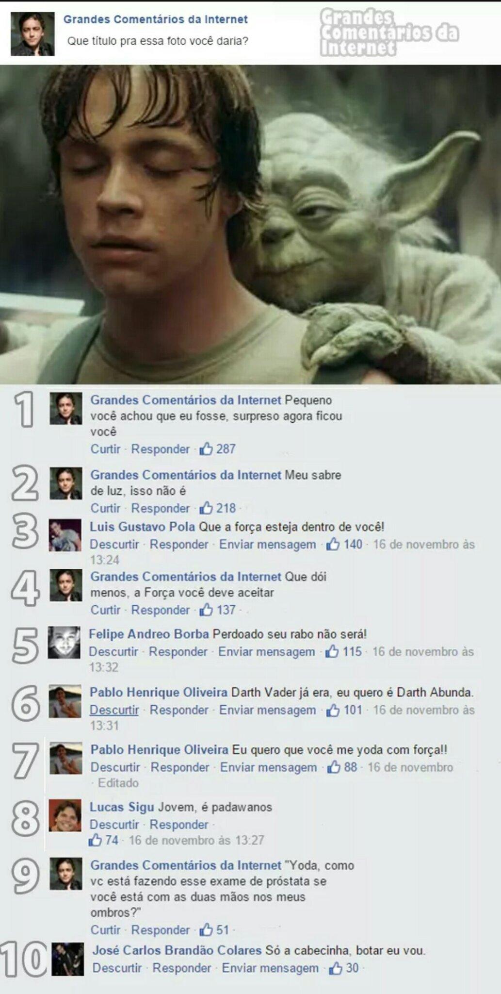 Yoda não perdoa otacu - meme