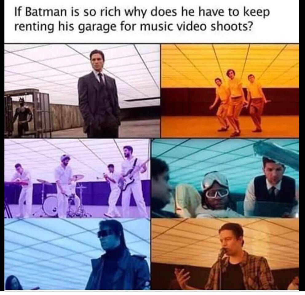 Batman's garage - meme