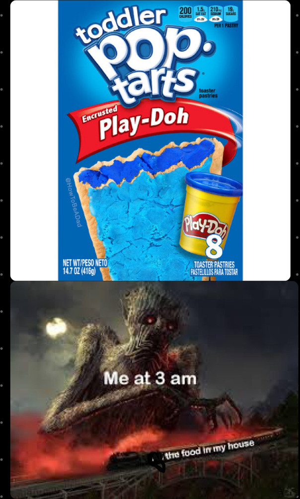 My little bro who I don't have will eat it - meme