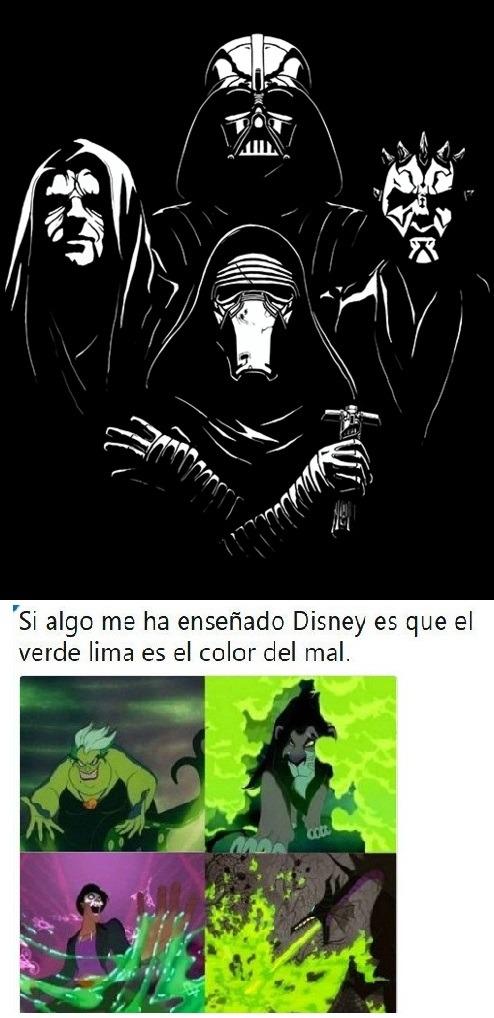 el color del mal es negro - meme