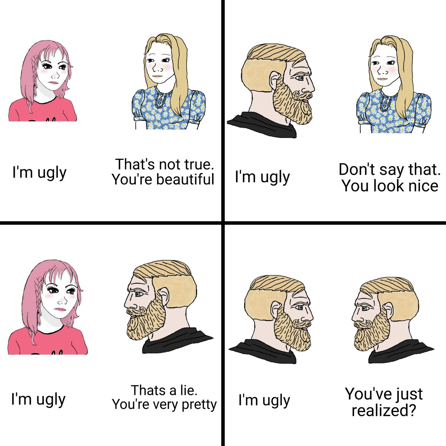 I am ugly - meme