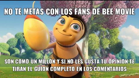 Si vieron el video de civer sobre bee movie, ya sabran de donde salio la idea - meme