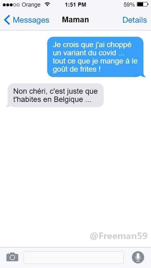 Le covid Belge - meme