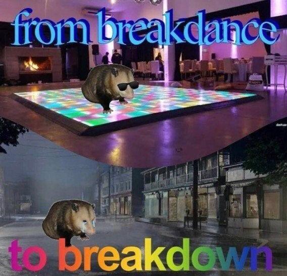 Del breakdance a la bancarrota - meme
