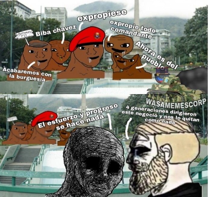 El inicio del fin fue cuando Chávez veía un pedazo de mierda y lo quería Expropiar - meme