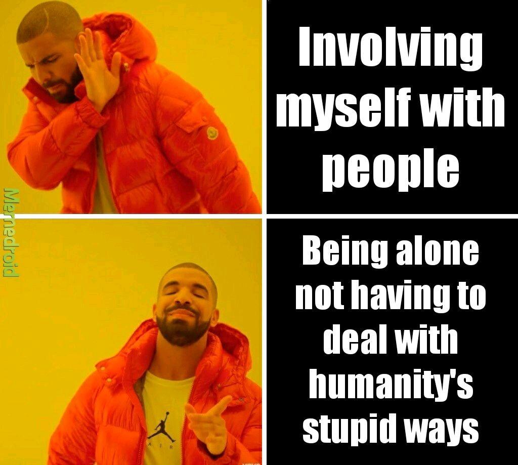 Humanity has fallen - meme