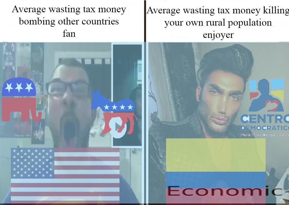 Colombia Chad - meme