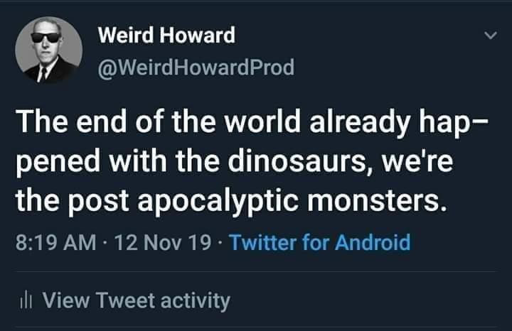 Howard sure is weird - meme