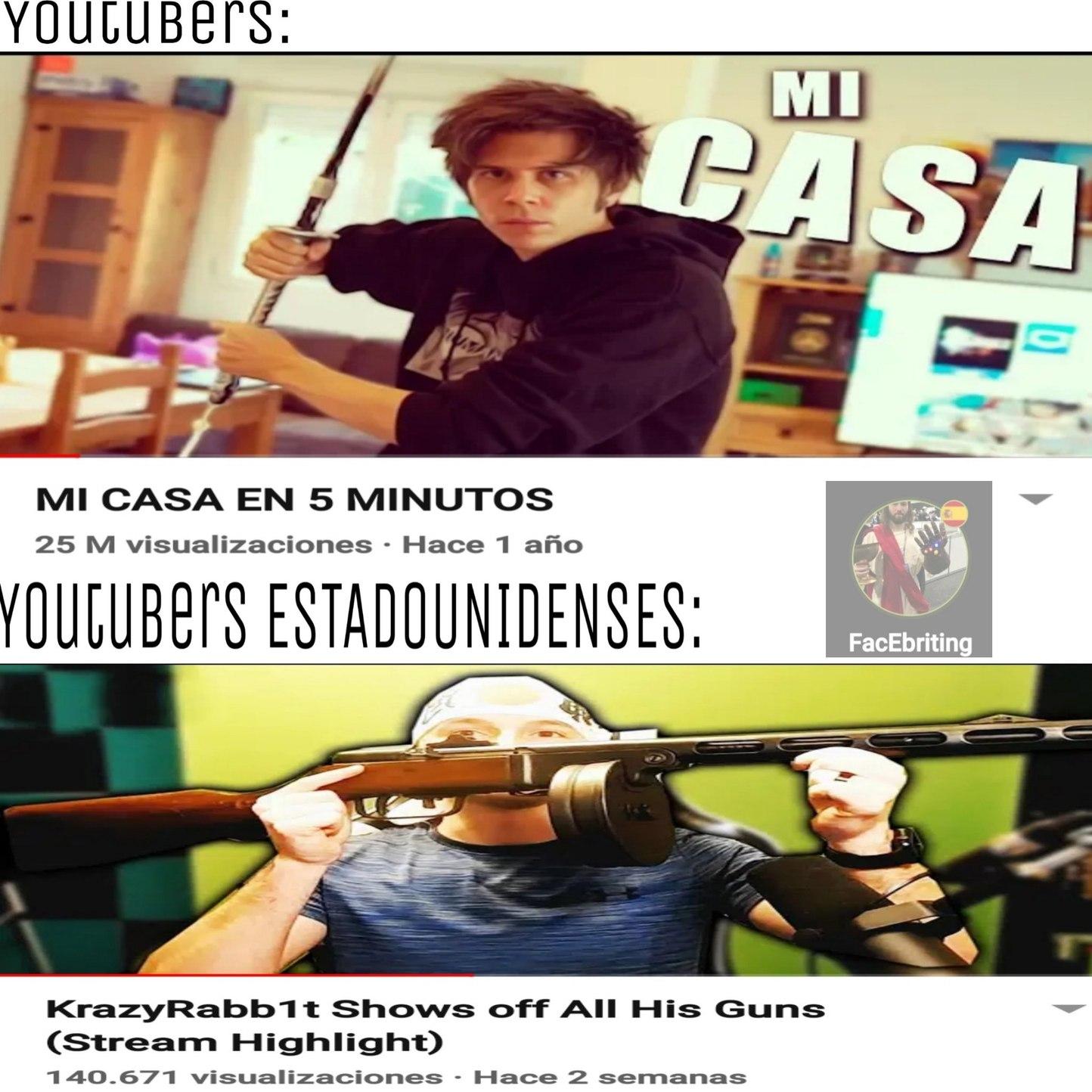 Youtubers gringos - meme