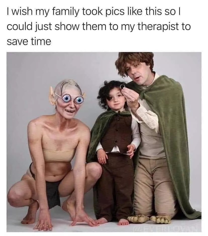 Lord of the Rings: Return of the Therapist - meme